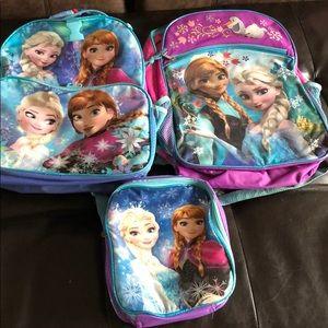 2 Frozen Backpack with Lunch box